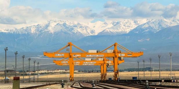 One of the BRI key projects: The Khorgos Gateway in Kasakhstan | Photo credit: Khorgos Gateway